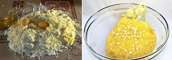 Impastate gli ingredienti con le mani, formate una palla e lasciatela lievitare