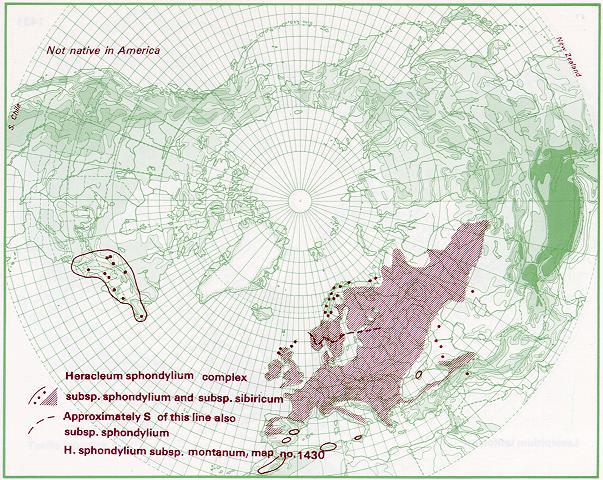 Distribuzione di Heracleum sphondylium